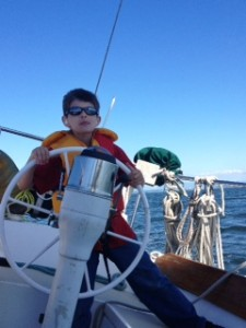 Nathan at the helm of Shannon