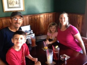 Waiting for dinner at Mo's Pub